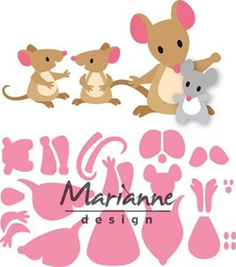 Marianne Design Collectables Dies - Eline's Mice Family