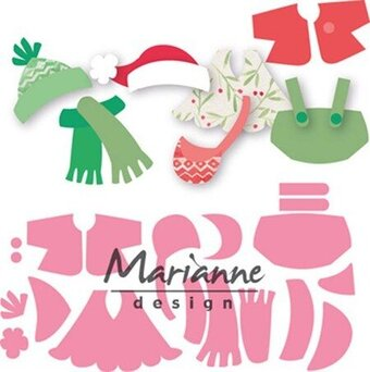 Marianne Design Collectables Christmas Dies - Eline' Outfits
