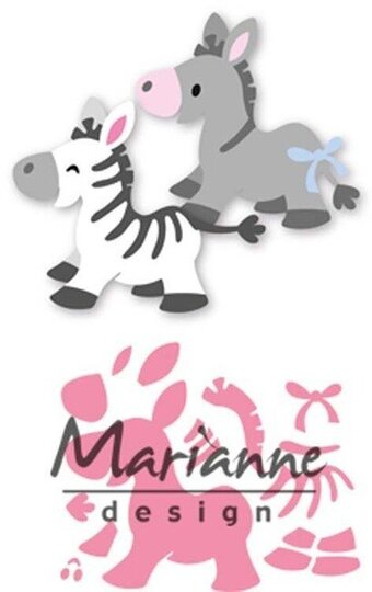 Marianne Design Collectables Die - Eline's Zebra and Donkey