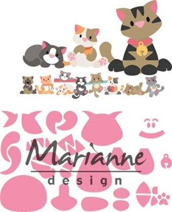 Marianne Designs Craft Die - Eline's Kitten