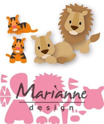 Marianne Design Die - Eline's Lion and Tiger