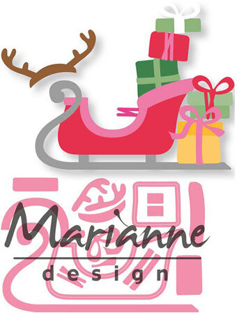 Marianne Design Christmas Craft Die - Eline's Sleigh