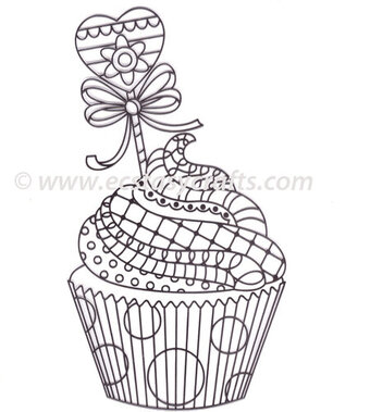 Marianne Designs Stamp - Doodle Cupcake