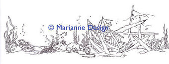 Marianne Design Clear Stamp - Hetty's Border - Underwater
