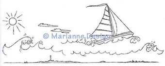 Hetty's Sailing the Seas - Marianne Design Clear Stamp