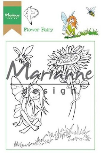 Hetty's Flower Fairy - Marianne Design Clear Stamp