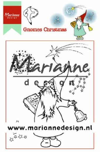 Hetty's Christmas Gnomes - Marianne Design Rubber Stamp