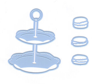 Marianne Design Creatables Die - Tiered Tray and Macaroons
