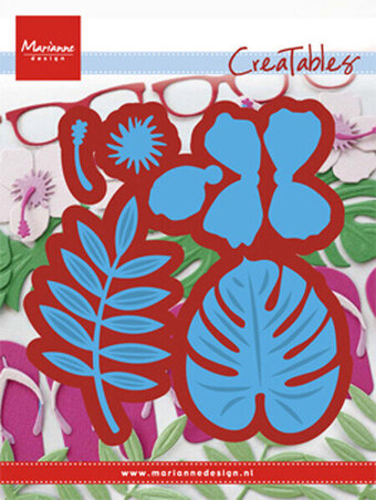Hibiscus Tropical Leaves - Marianne Design Creatables Die