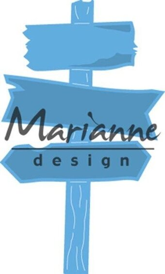 Wooden Signpost - Marianne Designs Craft Die