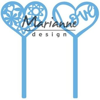 Heart Pins (set of 2) - Marianne Designs Valentine's Day Die