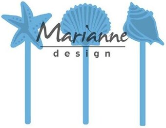 Sea Shell Pins - Marianne Design Craft Die