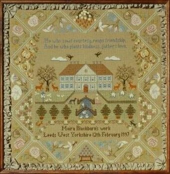 Bee Hive Sampler - Cross Stitch Pattern