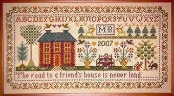 Friend's House Sampler - Cross Stitch Pattern