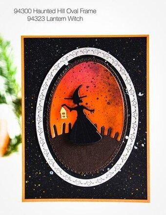 Witch Collage Craft Die Poppystamp Die