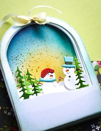 Memory Box Snowglobe Backer - Christmas Craft Die 94491 - 123Stitch