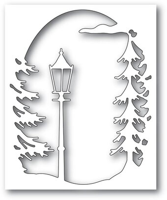 Lamplight Tree Collage - Craft Die
