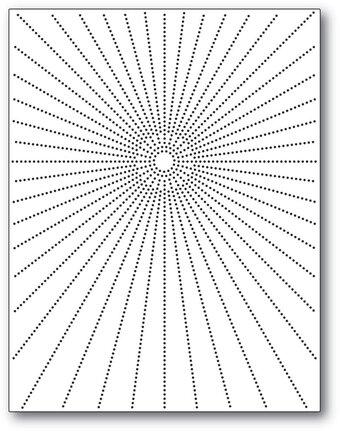 Birch Press Designs Dies-Pinpoint Radial Plate BP57384