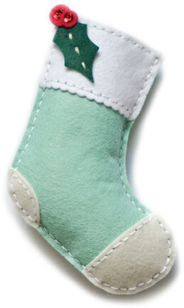 Memory Box Plush Holly Stocking Die