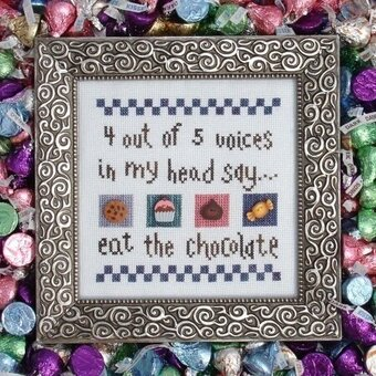 Eat the Chocolate - Cross Stitch Pattern