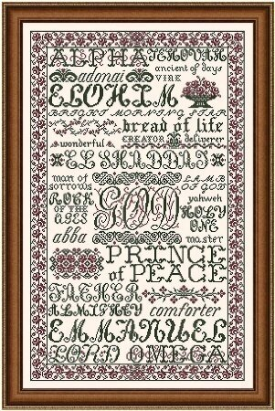 The Name of God - Cross Stitch Pattern