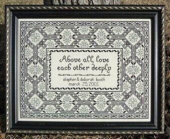 Moira Blackburn Samplers Anniversary/Wedding Sampler - Cross Stitch ...