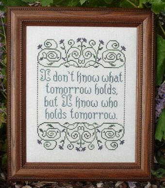 He Holds Tomorrow - Cross Stitch Pattern