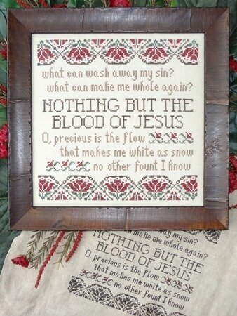 Nothing But the Blood - Cross Stitch Pattern