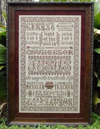 The Names of Jesus - Cross Stitch Pattern