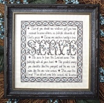 Building Blocks - Serve - Cross Stitch Pattern
