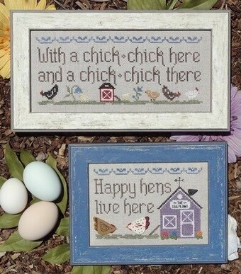 Hens and Chicks - Cross Stitch Pattern
