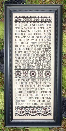 For God So Loveth - Cross Stitch Pattern