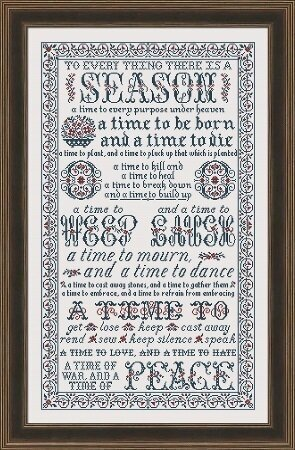 To Everything There is a  Season - Cross Stitch Pattern