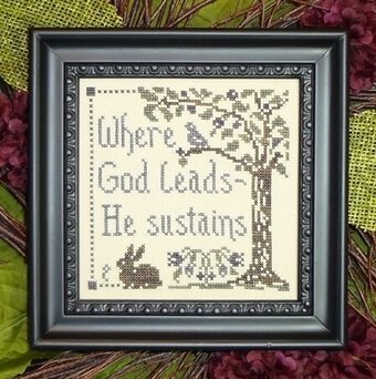 God Sustains - Cross Stitch Pattern