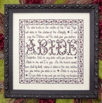 Building Blocks Abide - Cross Stitch Pattern