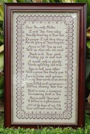 Morning Prayer - Cross Stitch Pattern