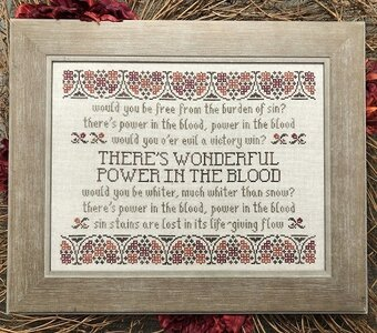 Power in the Blood - Cross Stitch Pattern