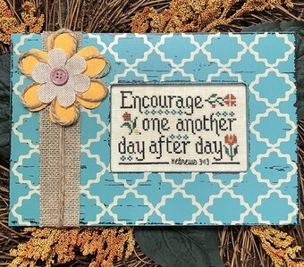 Encourage One Another - Cross Stitch Pattern