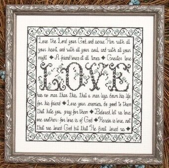 Building Blocks - Love - Cross Stitch Pattern