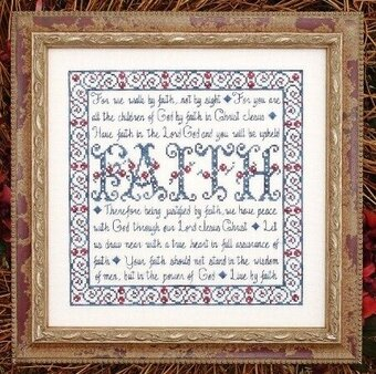 Building Blocks - Faith - Cross Stitch Pattern
