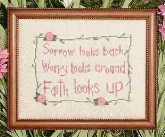 Faith Looks Up - Cross Stitch Pattern