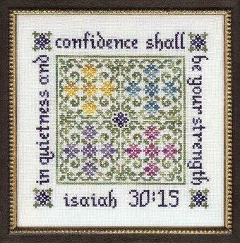 Quietness and Confidence - Cross Stitch Pattern
