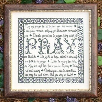 Building Blocks - Pray - Cross Stitch Pattern