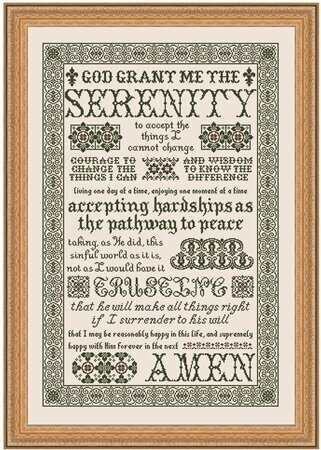 cross prayer serenity stitch