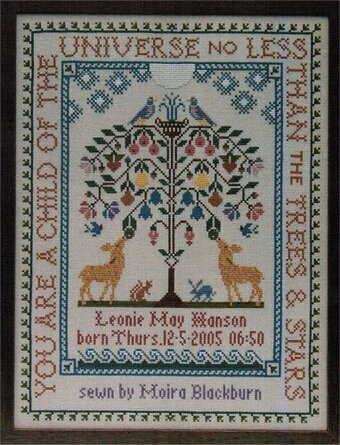 Moira Blackburn Samplers Tree Of Life Cross Stitch