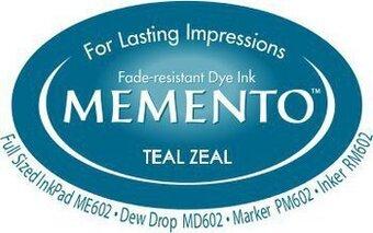 Memento Dew Drop Ink Pads Teal Zeal