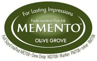 Memento Dew Drop Ink Pads - Olive Grove