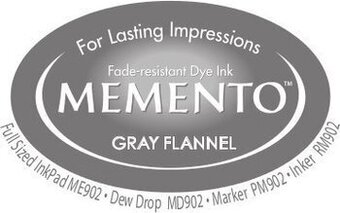 Memento Dew Drop Ink Pads - Gray Flannel