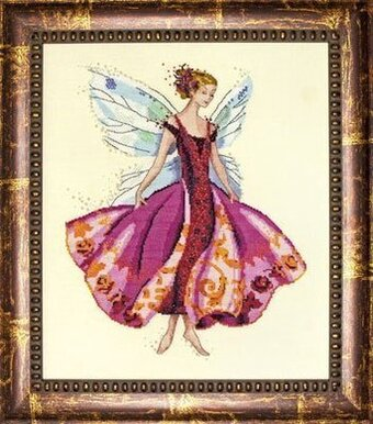 January's Garnet Fairy - Mirabilia Cross Stitch Pattern