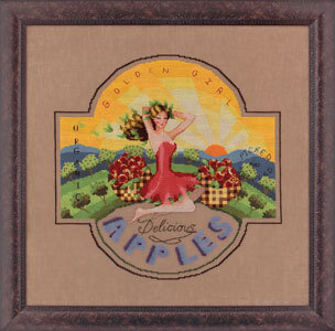 Golden Girl Apples - Mirabilia Cross Stitch Pattern